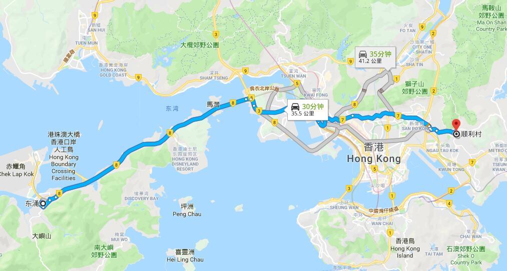 東涌 Tung Chung->順利 Shun Lee 打的士特價只需$180!