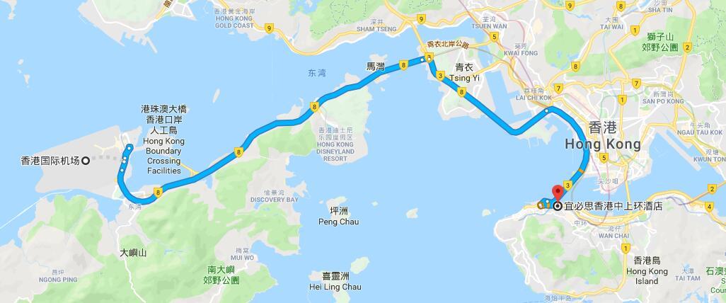 機埸 -> 中上環 Central/Sheung Wan 優惠一口價